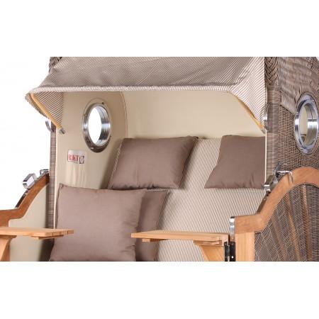xl strandkorb baltikum aus teak holz mit bullauge geflecht grey bezug 510 strandkorb shop aus. Black Bedroom Furniture Sets. Home Design Ideas