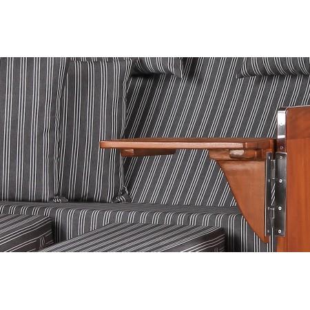 xl strandkorb baltikum aus mahagoni holz mit bullauge geflecht grey bezug 500 aus mahagoni holz. Black Bedroom Furniture Sets. Home Design Ideas