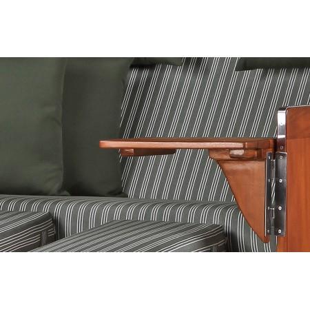 xl strandkorb baltikum aus mahagoni holz mit bullauge geflecht grey bezug 504 aus mahagoni holz. Black Bedroom Furniture Sets. Home Design Ideas
