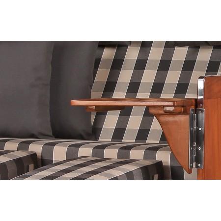 xl strandkorb baltikum aus mahagoni holz mit bullauge geflecht grey bezug 505 aus mahagoni holz. Black Bedroom Furniture Sets. Home Design Ideas