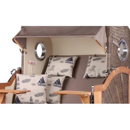 xl strandkorb baltikum aus teak holz mit bullauge geflecht grey bezug 540 strandkorb shop aus. Black Bedroom Furniture Sets. Home Design Ideas
