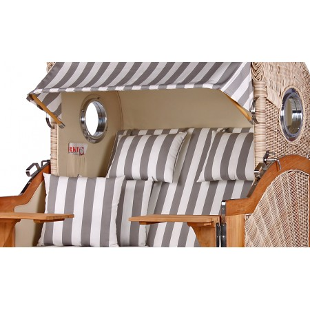 xl strandkorb baltikum aus teak holz mit bullauge geflecht shell bezug 513 strandkorb shop aus. Black Bedroom Furniture Sets. Home Design Ideas