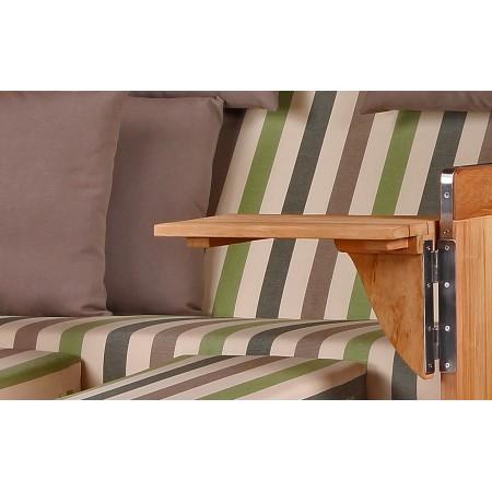 xl strandkorb baltikum aus teak holz mit bullauge geflecht shell bezug 535 strandkorb shop aus. Black Bedroom Furniture Sets. Home Design Ideas