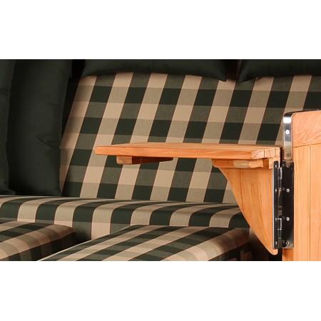 xxl strandkorb baltikum aus teak holz mit bullauge geflecht shell bezug 506 strandkorb shop 3. Black Bedroom Furniture Sets. Home Design Ideas