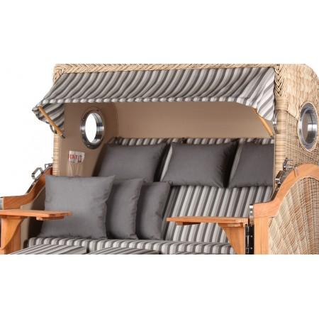 xxl strandkorb baltikum aus teak holz mit bullauge geflecht shell bezug 545 strandkorb shop 3. Black Bedroom Furniture Sets. Home Design Ideas