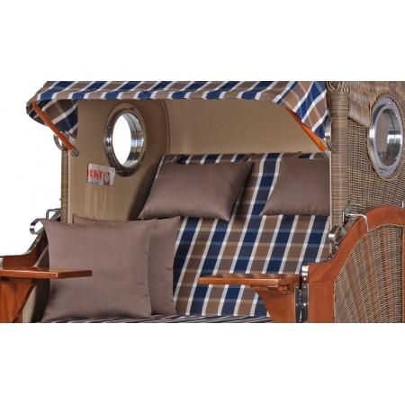 strandkorb d ne aus mahagoni holz mit bullauge geflecht grey bezug 526 strandkorb shop aus. Black Bedroom Furniture Sets. Home Design Ideas