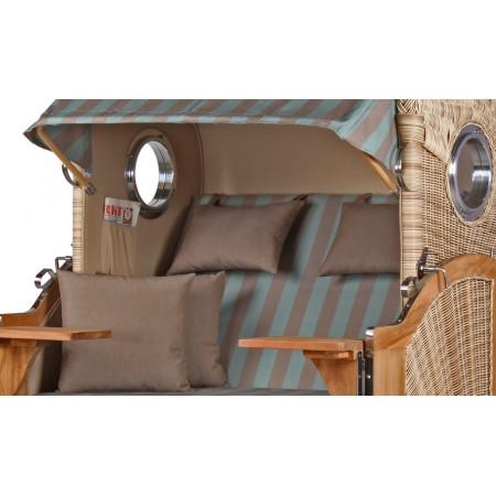 strandkorb d ne aus teak holz mit bullauge geflecht shell bezug 520 strandkorb shop aus teak holz. Black Bedroom Furniture Sets. Home Design Ideas