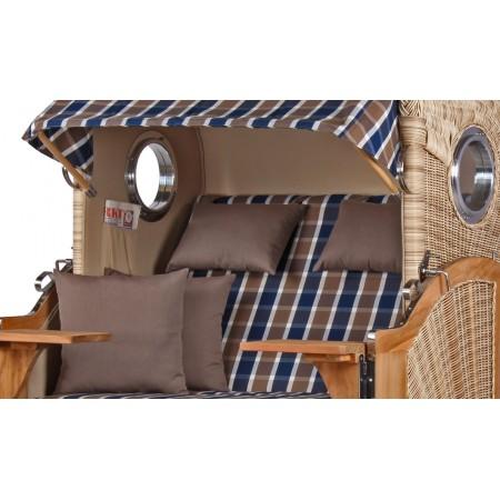 strandkorb d ne aus teak holz mit bullauge geflecht shell bezug 526 strandkorb shop aus teak holz. Black Bedroom Furniture Sets. Home Design Ideas
